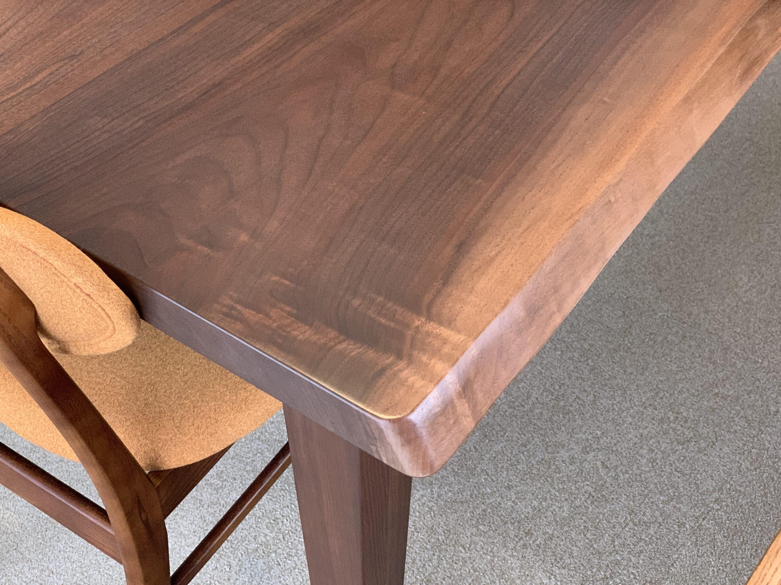 ダイニングテーブル ブラックウォルナット ブックマッチ