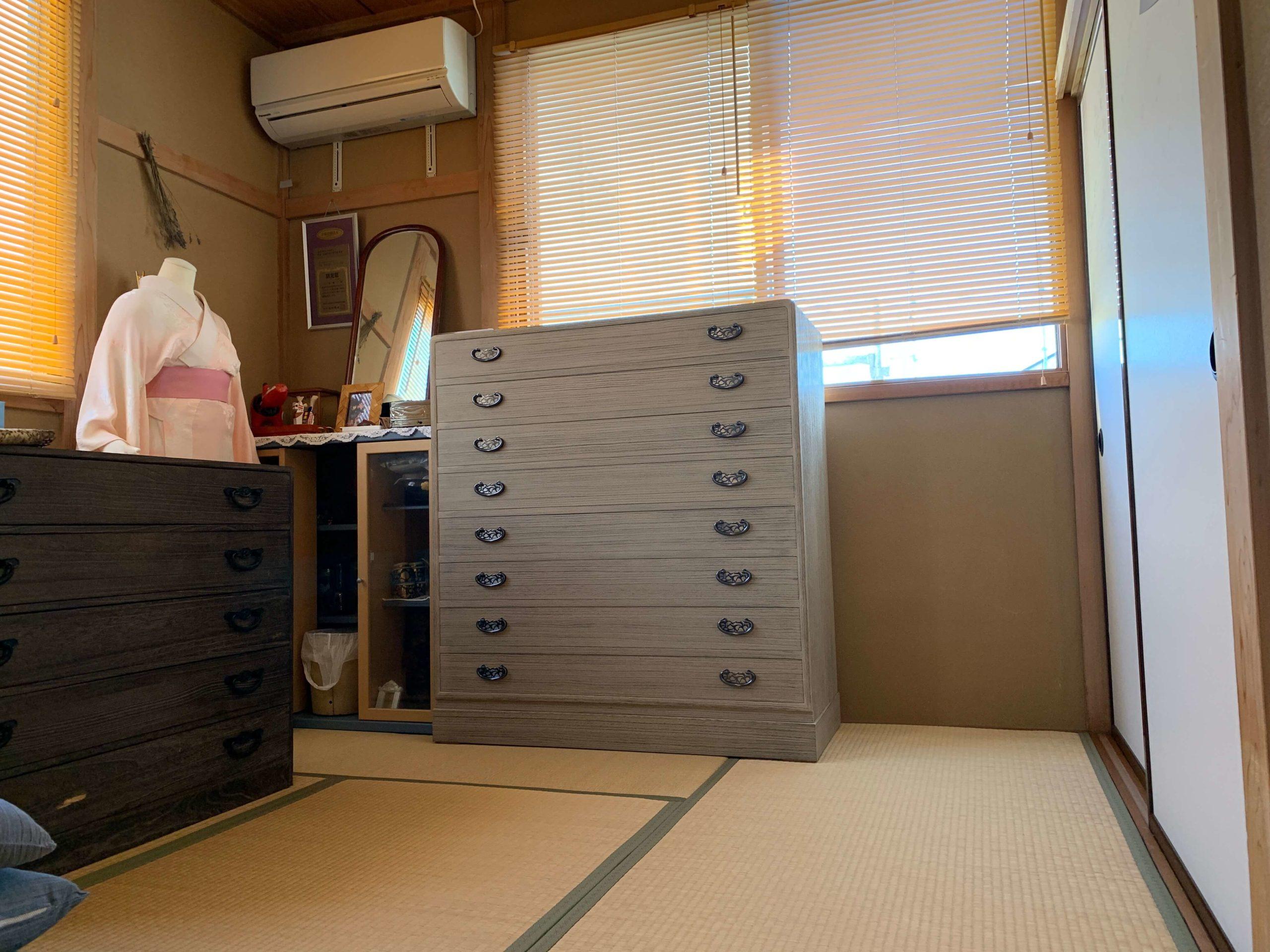 二本松伝統家具 総桐時代小袖たんす 八重