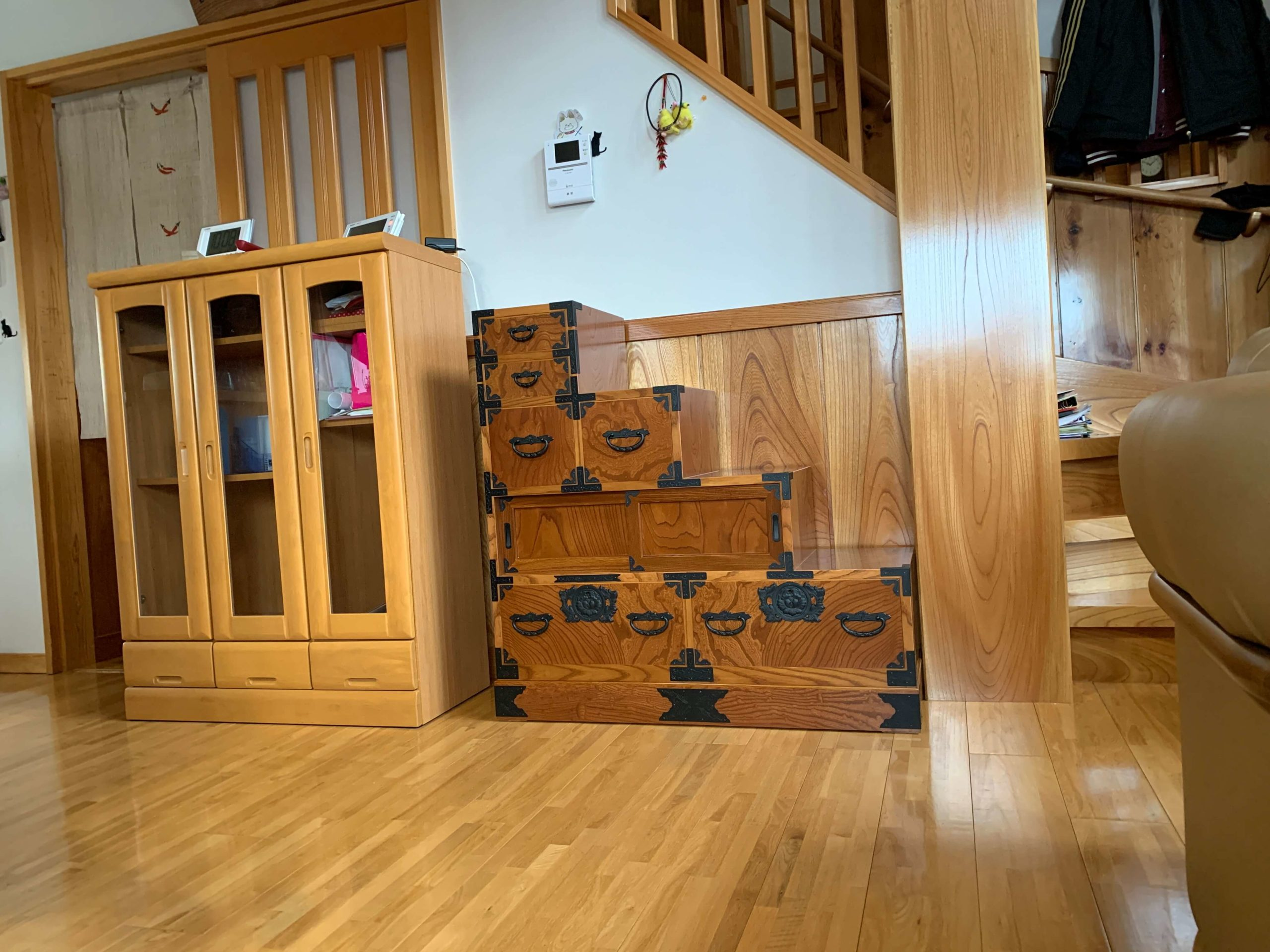 二本松伝統家具 欅民芸階段箪笥