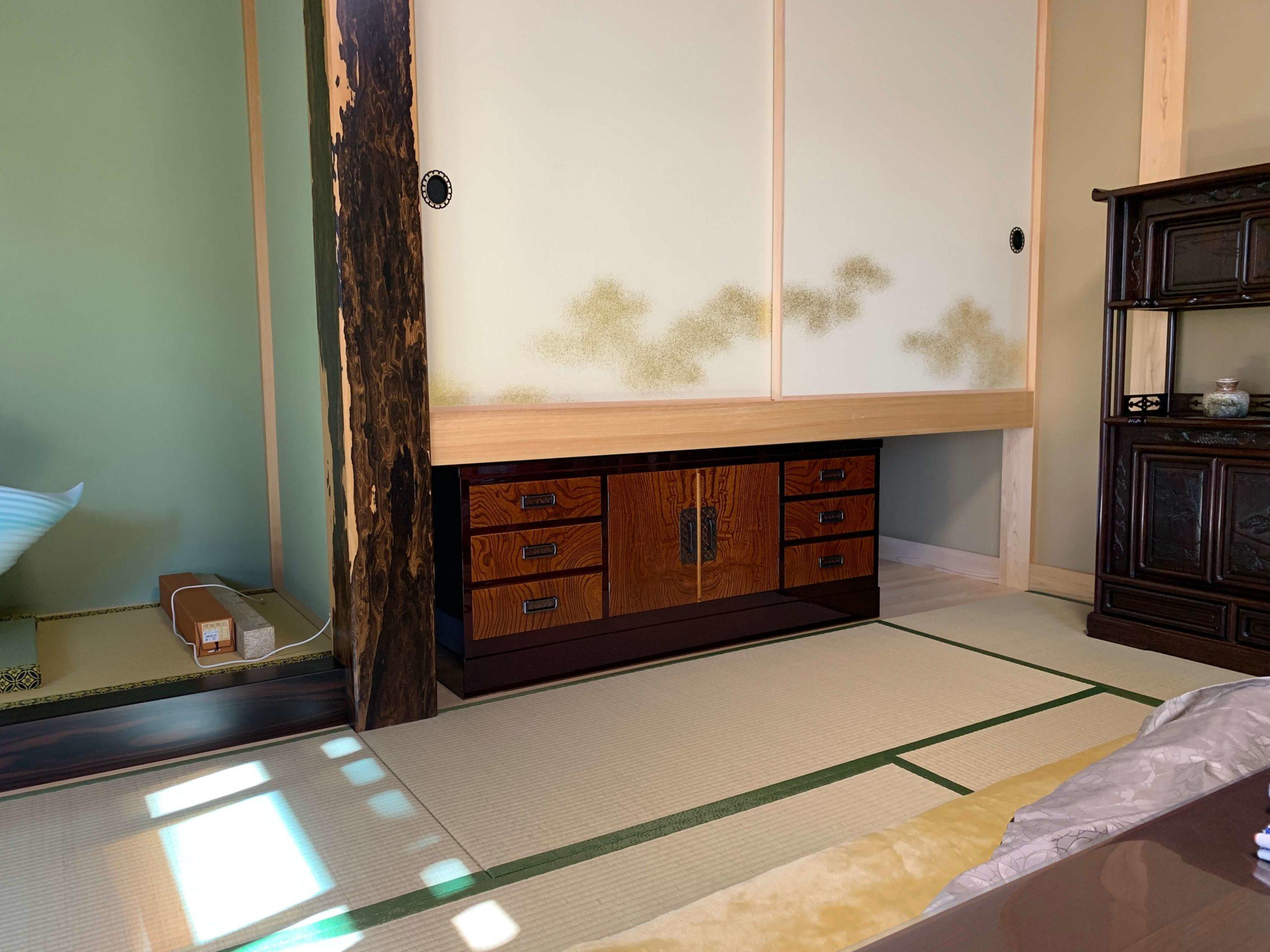 二本松伝統家具 特注欅民芸ローボード