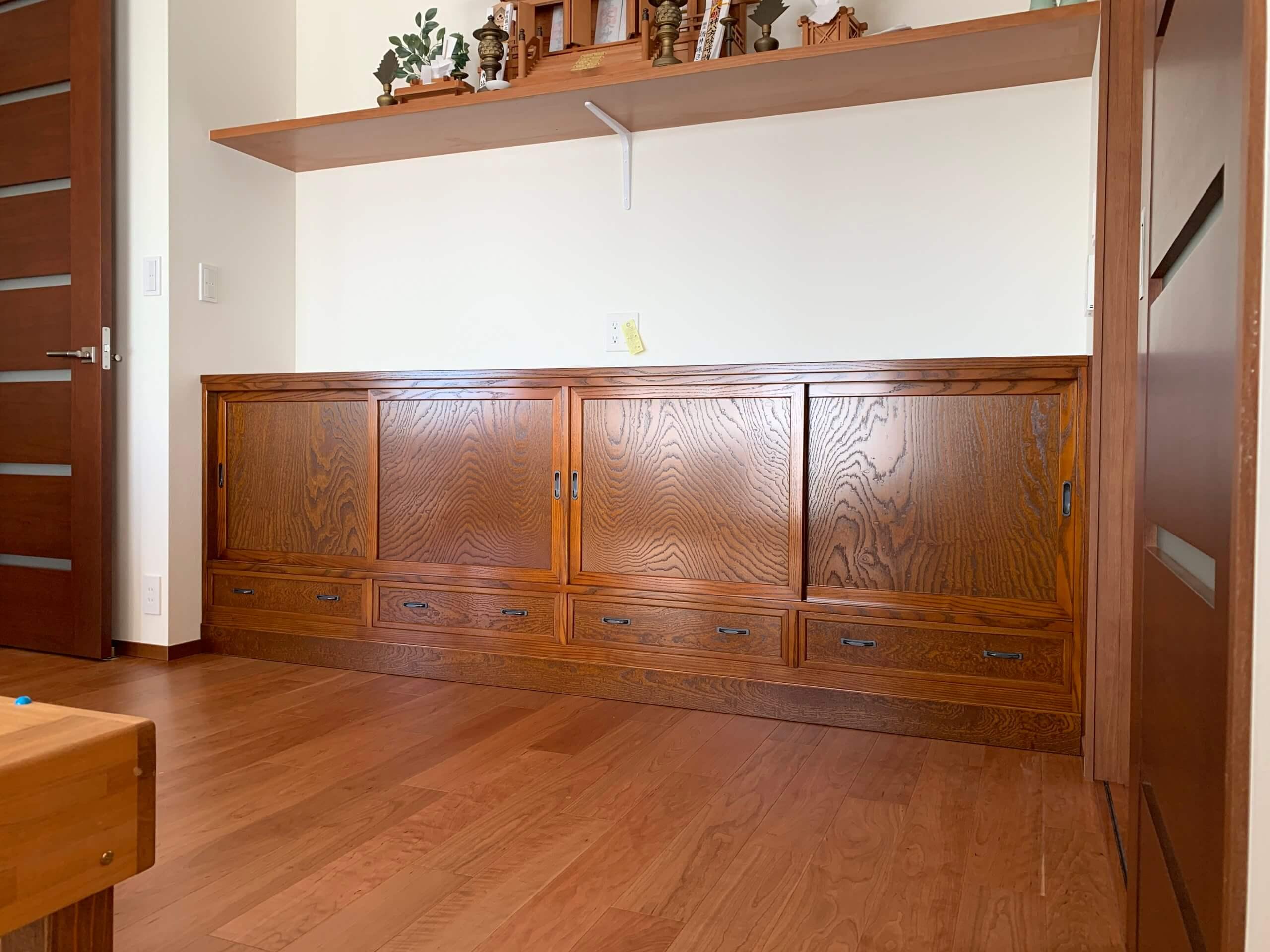 二本松伝統家具 特注欅サイドボード