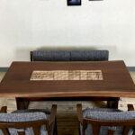 ブラックウォルナット×江戸組子 ダイニングテーブル