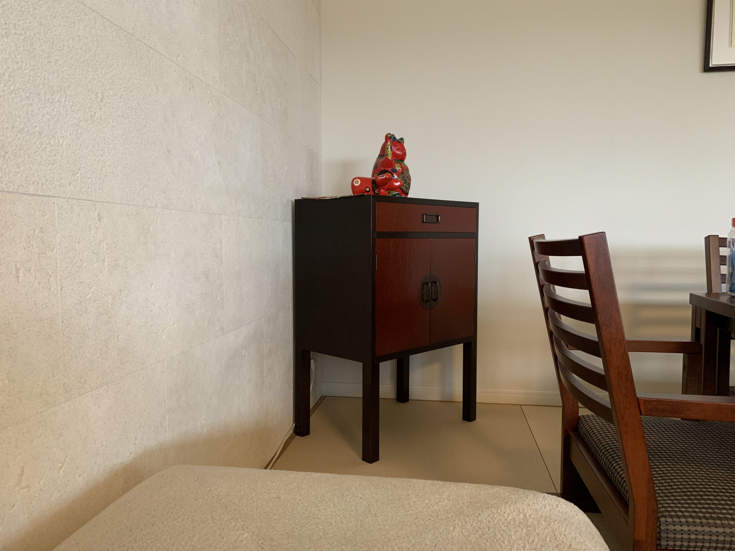 コンソールテーブル 漆和紙肌塗