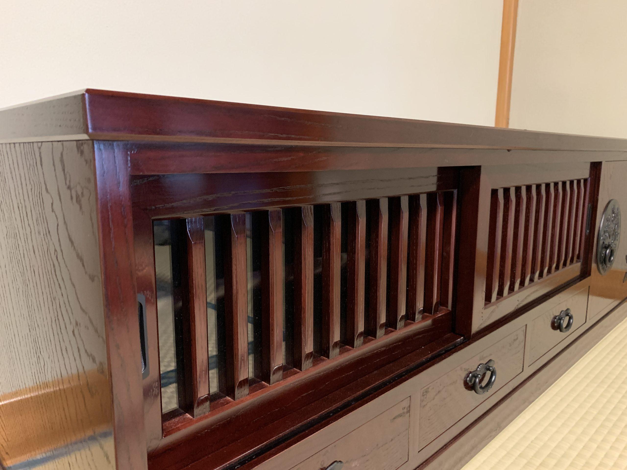二本松伝統家具 欅民芸テレビボード