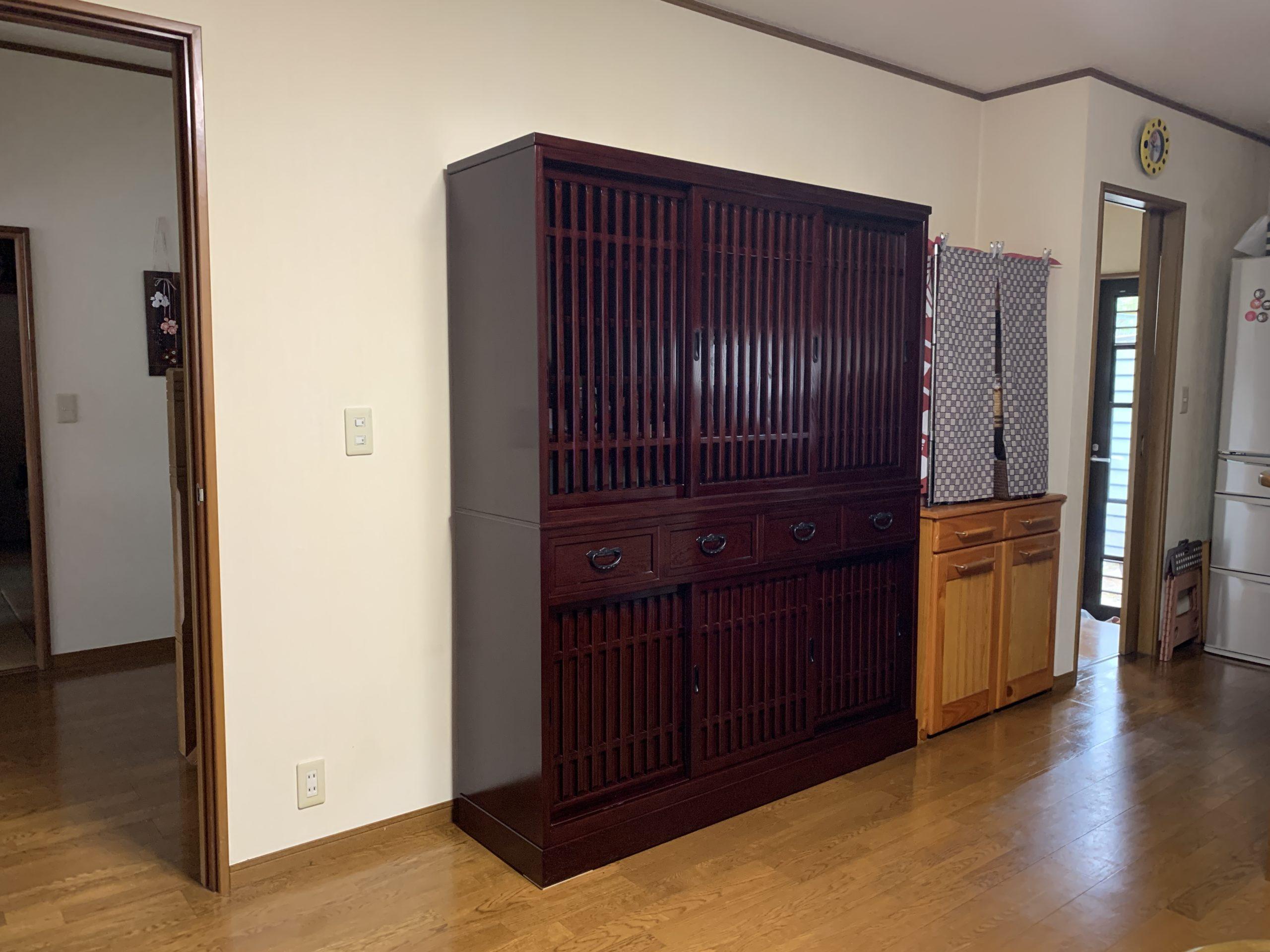 二本松伝統家具 特注欅水屋